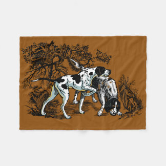 hunting dogs fleece blanket