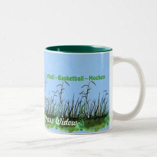Hunting, Fishing, etc..Leaving Me A Grass Widow... Two-Tone Mug