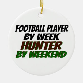 Hunting Football Player Ceramic Ornament