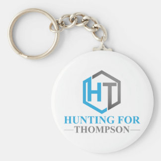 Hunting For Thompson Basic Round Button Keychain
