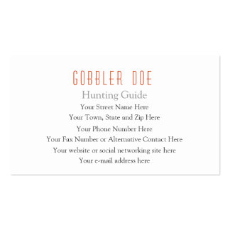 Hunting Guide Two-Sided Business Card