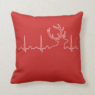 HUNTING HEARTBEAT THROW PILLOW