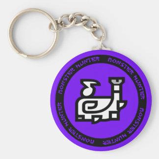 hunting horn emblem keychain