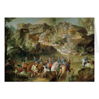 Hunting in the Forest of Fontainebleau Greeting Card