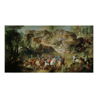 Hunting in the Forest of Fontainebleau Poster