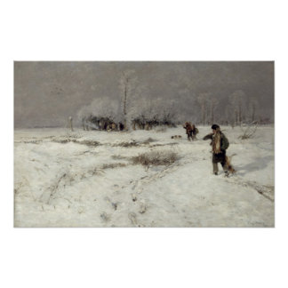 Hunting in the Snow Poster