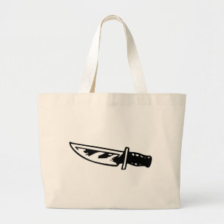 Hunting Knife Large Tote Bag