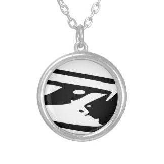 Hunting Knife Silver Plated Necklace
