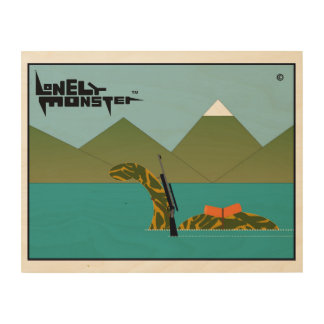 Hunting Lonely Monster Wood Wall Art