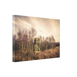 Hunting lookout tower in autumn nature canvas print