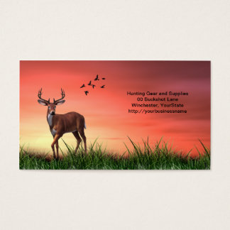 Hunting, Outdoors and Sporting Goods business card