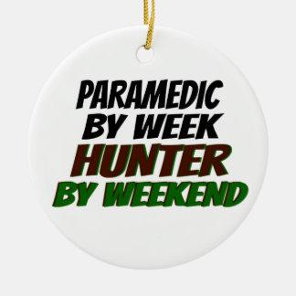 Hunting Paramedic Round Ceramic Ornament