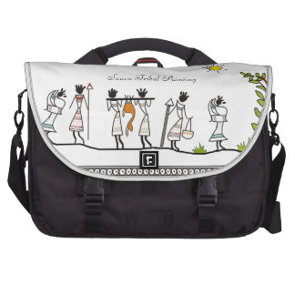 Hunting Peoples Saura Tribal Painting Travel Bag Laptop Commuter Bag