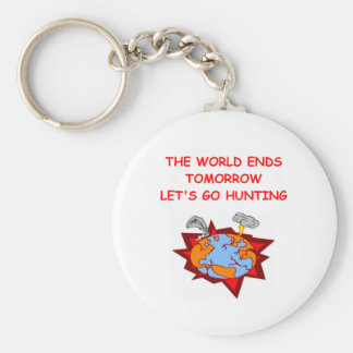 HUNTING.png Basic Round Button Keychain