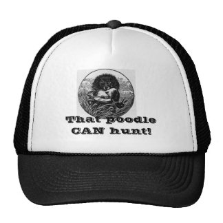Hunting Poodle Cap Trucker Hat