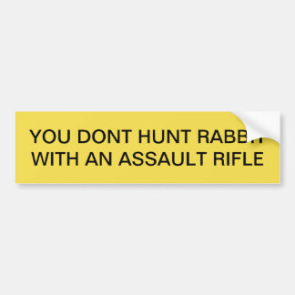 HUNTING RABBIT BUMPER STICKER