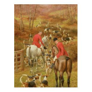 Hunting Scene, 1906 Postcard