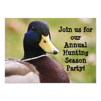 Hunting Season Duck Invitation