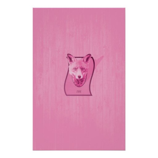 Hunting Series - The Pink Fox Head Poster