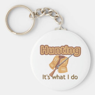 Hunting T-shirts and Gifts. Basic Round Button Keychain