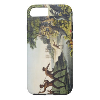 Hunting the Kangaroo, aborigines in New South Wale iPhone 7 Case