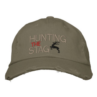 HUNTING THE STAG EMBROIDERED HAT