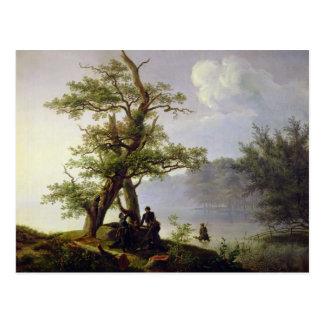 Hunting Waterfowl, 1828 Postcard