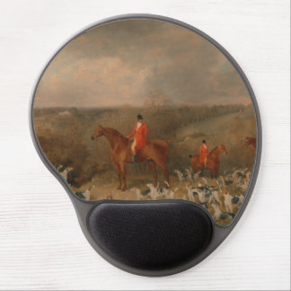 Hunting With Dogs and Horse Famous Oil Painting Gel Mouse Pad