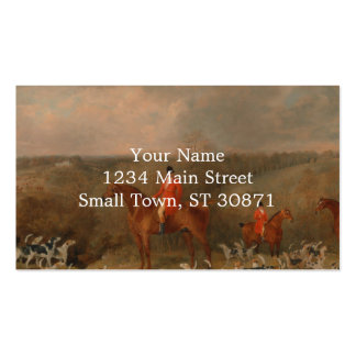 Hunting With Dogs and Horse Famous Oil Painting Pack Of Standard Business Cards