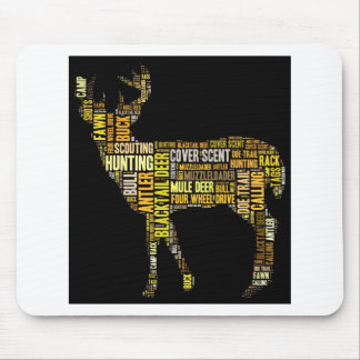 Hunting Word Cloud Mouse Pad