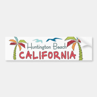 Huntington Beach California palms Bumper Sticker