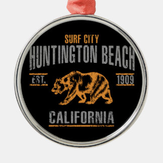 Huntington Beach Metal Ornament