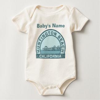 Huntington Beach Pier Baby Bodysuit