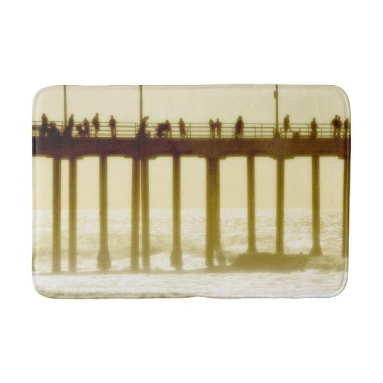 Huntington Beach Pier Beach Bath Mat