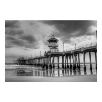 "Huntington Beach Pier "" Ca Poster"