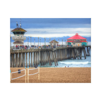 Huntington Beach Pier , California Canvas Print