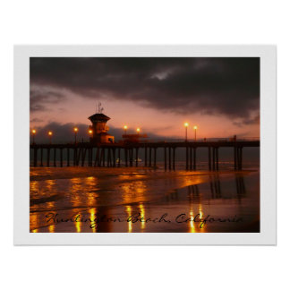 Huntington Beach Pier  California USA Poster