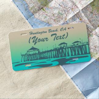Huntington Beach Pier, HB, California License Plate