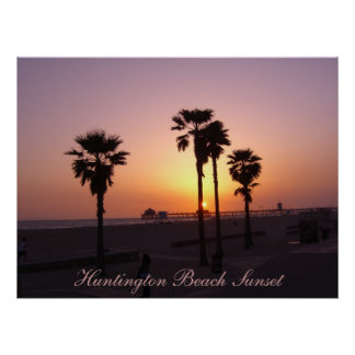 Huntington Beach Sunset Poster