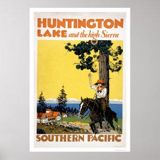 Huntington Lake and the Sierras Poster