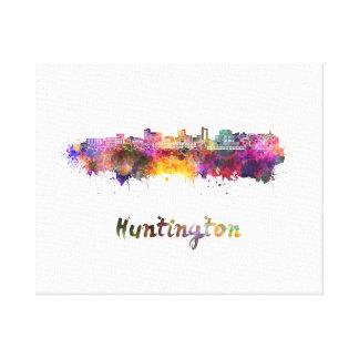 Huntington skyline in watercolor canvas print