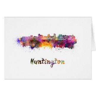 Huntington skyline in watercolor card