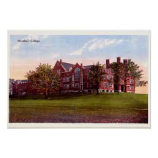 Huntington West Virginia Marshall College Poster