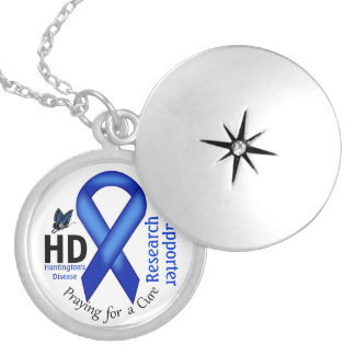 Huntington's Disease HD Awareness Research Support Silver Plated Necklace