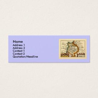 """Huntingtonshire"" Huntingdonshire County Map Mini Business Card"