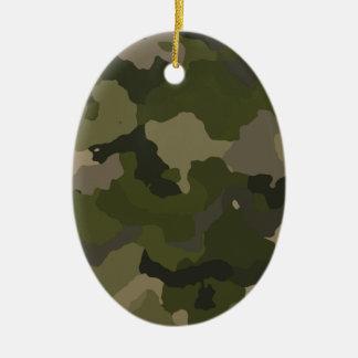 Huntress Camo Ceramic Oval Ornament