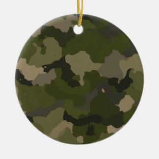 Huntress Camo Round Ceramic Ornament