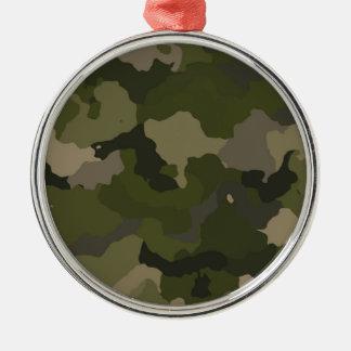 Huntress Camo Silver-Colored Round Ornament