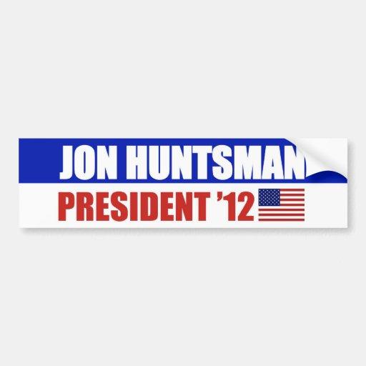 Huntsman 2012 bumper stickers