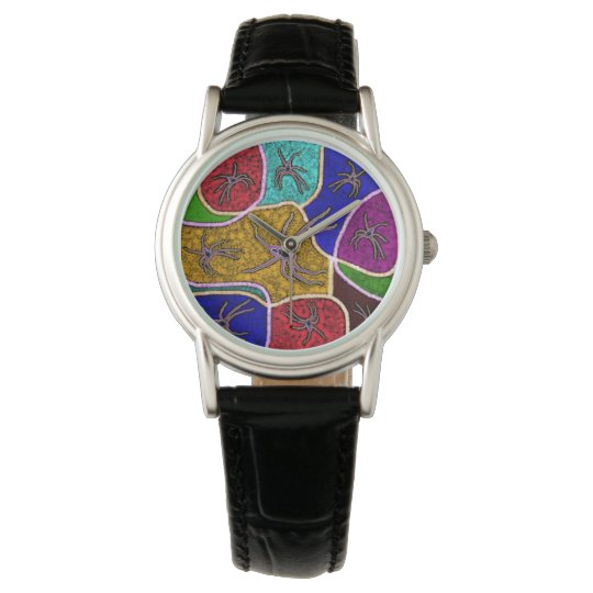 Huntsman Spiders, Dot Art, Ladies Leather Watch